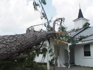 Debris Cleanup Miami Church
