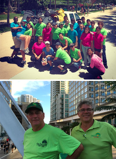 One Two Tree Lawn Care gives back to the South Florida community.