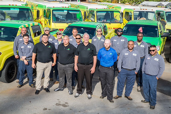 Our team, prepared and eager to tackle South Florida lawn care needs